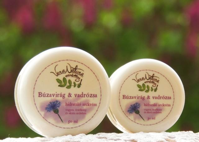 Búzavirág & vadrózsa hidratáló arckrém