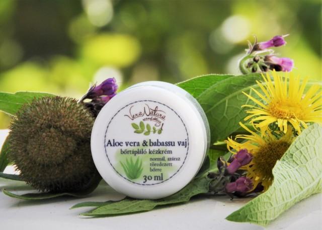Aloe vera & babassu vaj bőrtápláló kézkrém