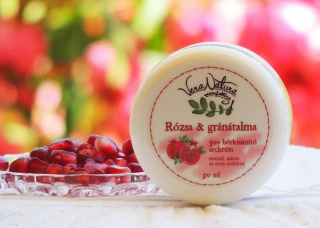 Rózsa & gránátalma 30+ bőrkisimító arckrém