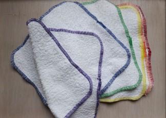 Mosható pamut törlőkendő