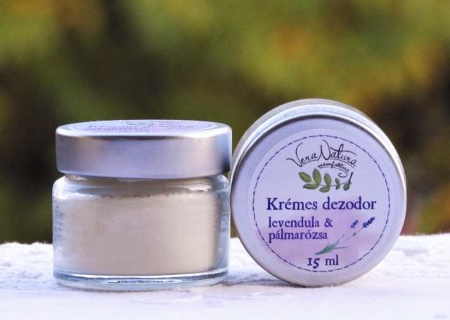Krémes dezodor levendula & pálmarózsa tégelyben