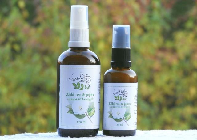Zöld tea & jojoba arctisztító gél