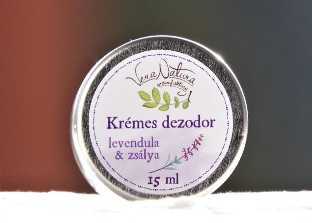 Krémes dezodor levendula & zsálya tégelyben