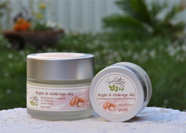 Argán & rizskorpa testápoló arckrém