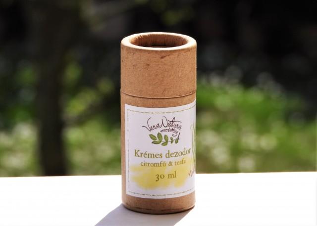 Krémes dezodor citromfű & teafa papírtubusban