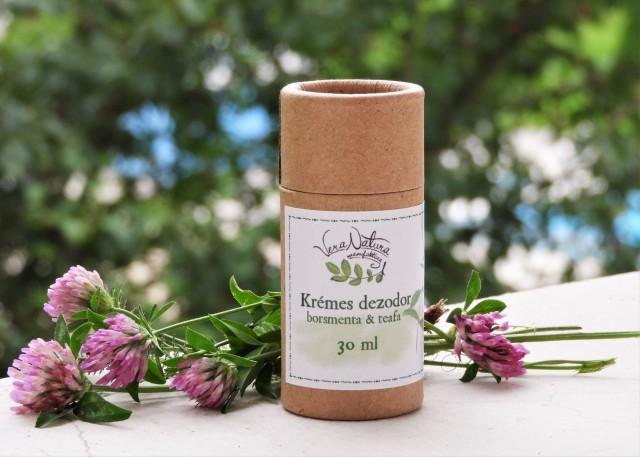 Krémes dezodor borsmenta & teafa papírtubusban